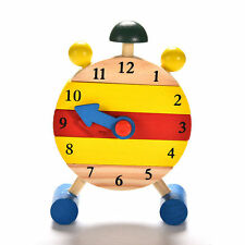 Fun Baby Blocks Early Learning Building Children  Educational Wooden Toy Clock s