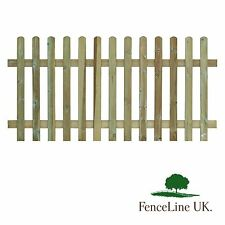 Picket Fence Panel 3ft high 6ft Long Palisade Garden Round Topped 1.8m 0.9m