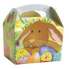 12 Easter Parade Egg Hunt Bunny Chick Carry Meal Bag Boxes ~ Kids Party Food Box