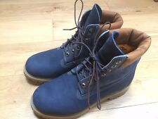 Mens timberland blue leather nubuck boots size 9W Never Worn! (Like new)