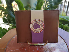 Bosca Burnishing Buffalo Brown Leather 98/73 Bifold Vintage Wallet RARE