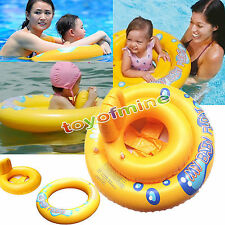 Inflatable Baby Infant Kids Seat Aid Swimming Pool Float Tube Ring Swim Trainer