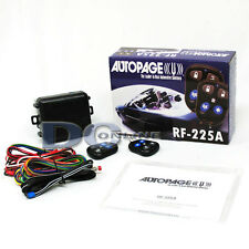 AUTOPAGE RF-225A 2-CHANNEL CAR ALARM SYSTEM WITH KEYLESS ENTRY & 2 REMOTES