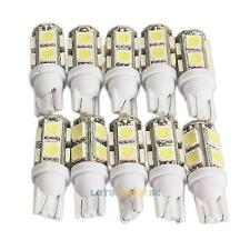 10Pcs Xenon Super White 194 168 W5W T10 9SMD-5050 Car Exterior LED Light Bulb #L