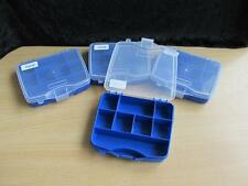 4 Small Organiser Storage Box Case 8 Compartments Suit Beads Jewelery Findings