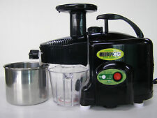 LIGHTLY USED Green Power KPE1304 TWIN GEAR Masticating Juicer~BLACK