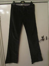 Dark Grey Stretch Flare Velvet Cords Corduroy Trousers Size 25 in. Waist - L31
