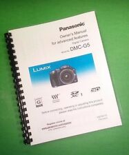 COLOR PRINTED Panasonic Lumix Advanced DMC-G5 Manual User Guide 232 Pages