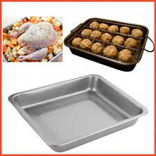 Baking Roasting Tray Chef Aid Meat Chicken Poultry Roaster Pan 34x22x5cm Thick