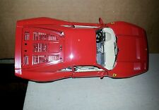 Diecast model car 1/18 scale red Ferrari GTO 1984 by Burago made in Italy