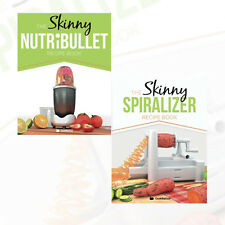 The Skinny Nutribullet & Spiralizer Recipe Book Collection 2 Books Set Pack NEW