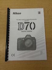 Nikon D70 Dgital Cámara plenamente Impreso Manual de usuario Guía Manual 218 Páginas