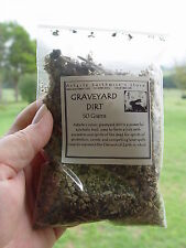 GRAVEYARD DIRT 50g Wicca Witch Pagan Goth TRUE DIRT NOT JUST A HERB  - EMPOWER!!