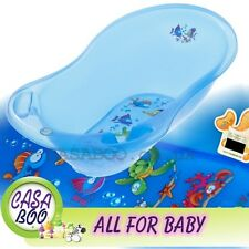 AQUA  LUX  Large Baby Bath Tub with   thermometer  - 102 cm - Great Price BLUE