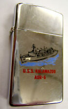 BRIQUET ZIPPO ORIGINAL USA US NAVY USS KALAMAZOO AOR 6 Marine VINTAGE COLLECTOR