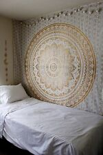 Queen Size Ombre Mandala Bedspread Indian Bedcover Hippie Blanket Tapestry Throw