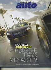 SPORT AUTO n°566 MARS 2009 AUDI RS6 AUDI R8 V10/PORSCHE 911TURBO