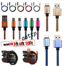 1 M Braided Aluminum Micro USB Data&Sync Charger Cable For Android Phone 1X