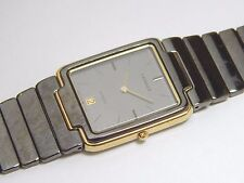 Lassale by Seiko Black & Gold Tone Stainless 7759-5100 Sample Watch NON-WORKING