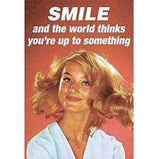 """Aimant de Réfrigérateur Poster Sympa """"Smile and The World Thinks..."""""""