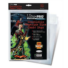 100 Ultra Pro Magazine Resealable Storage Bags and  Boards New Factory Sealed