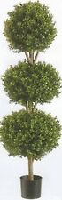 "56"" ARTIFICIAL BOXWOOD 4' 8"" OUTDOOR TOPIARY TREE 3 BALL BUSH PLANT PATIO 5 POOL"