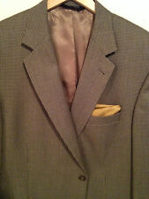 """""""JosA.Bank""""A Stylish Vicuna & Brown Mini Houndstooth Spt Coat 44R Lux 100% Wool"""