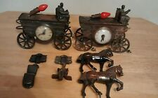 Lot of Cover wagon Horse Clock part. Parts Only