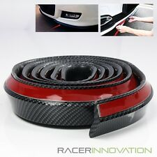 2.5m Front/Rear Bumper/Side Skirt Lip Carbon Fiber Style Protective Trim Molding