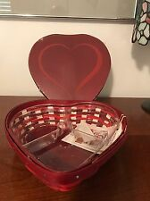Longaberger Complete Large Sweetheart Basket Set