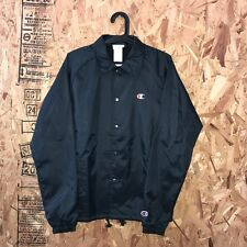 CHAMPION COACHES JACKET BLACK SIZE MEDIUM NEW WITH TAGS RS