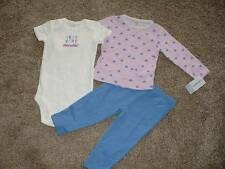 Carter's Baby Girls Little Lilac 3pc Set Outfit Size 9 Months 9M NWT NEW Clothes