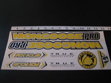Mongoose PRO RX 10.9 Titanium Stickers Yellow, Silver & Black.
