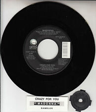 "MADONNA Crazy For You & Gambler  7"" 45 vinyl record NEW + juke box title strip"