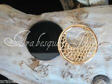 2 COIN/MONEDA FOR GENUINE MI STERLINA MILANO/PENDANT/KEEPER ROSE GOLD LACE/ONYX