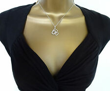 "Beautiful 16"" Crystal Heart Pendant and Necklace Chain Ladies or Girls Jewellery"