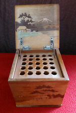 Vintage Japanese Wooden Cigarette Box