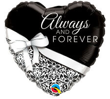 """Heart Shape Always and Forever 18"""" Foil Balloon Wedding Anniversary Party 3 Pack"""
