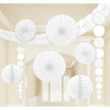 WHITE ROOM DECORATING KIT CONTAINS 9 ACCESSORIES WEDDING COMMUNION CHRISTENING