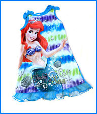 Disney Princess Ariel The Little Mermaid Polycotton Top Nightdress Sleep S:4-5 Y