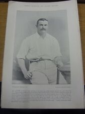 1895 Cricket: Famous Plate/Picture - Lyons, J J [Australia] - on reverse - Group