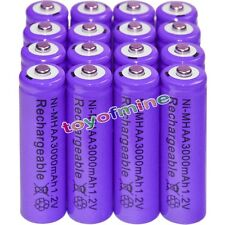 16x AA battery batteries Bulk Nickel Hydride Rechargeable NI-MH 3000mAh 1.2V Pur