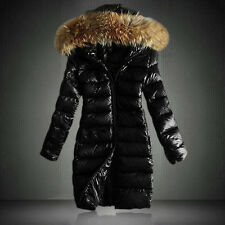 Winter Women Fur Long Outwear/Coat/Down Jacket Slim Fit Warm Trench