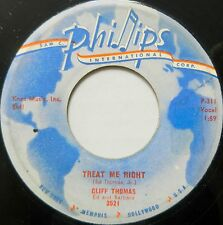 CLIFF THOMAS 45 Treat Me Right / I'm On My Way Home PHILIPS Rockabilly #BB355