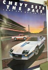 1982 Chevrolet Camaro Indy 500 Pace Car & S10 Official Truck Poster Z28 GM Large