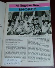 1975 TV ARTICLE~MICKEY MOUSE CLUB~ANNETTE FUNICELLO~GROUCHO MARX~1950'S SHOW'S