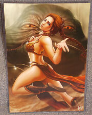 Star Wars Slave Leia Jabba The Hutt Glossy Print 11 x 17 In Hard Plastic Sleeve