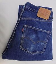 Vintage Levis 60's-70's Redline Single Stitch Selvedge Jeans #6 Tag 34 x 32 USA
