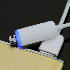 1.2M White With Blue LED Light Micro USB Data Charging Cable For Android Phone