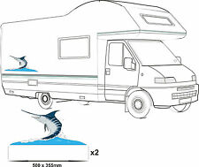 MOTORHOME VINYL GRAPHICS STICKERS DECAL CAMPER VAN RV CARAVAN HORSEBOX  MARLIN